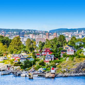 Oslo, een stad in de fjord in Noorwegen