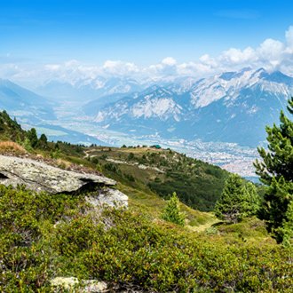 Skigebied in Igls, Oostenrijk