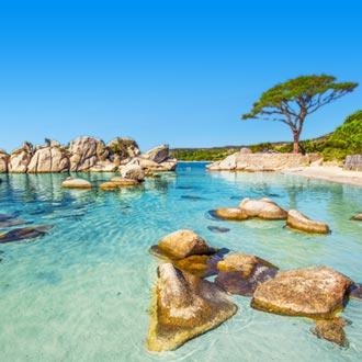 Palombaggia strand in Corsica