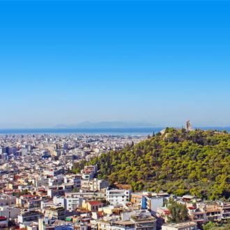 Philopappusheuvel in Athene, Griekenland