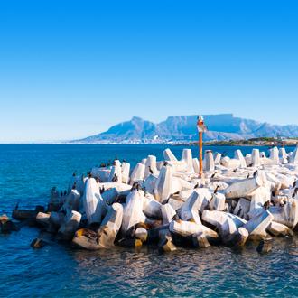 Pier bij Robben eiland bij Kaapstad