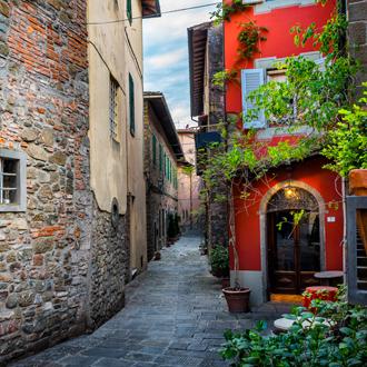 Pittoreske straat in Montecatini Terme