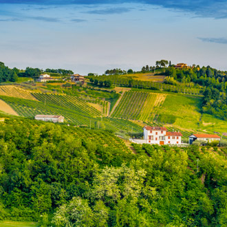 Het platteland in de regio Emilia Romagna in Italie