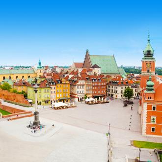 Kasteel plein in Warschau, Polen