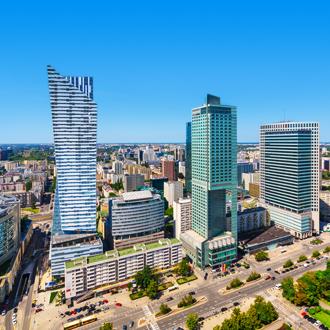 Wolkenkrabbers in Warschau, Polen