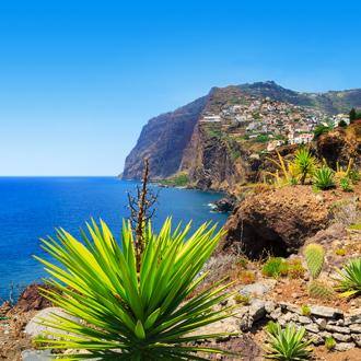 Rotsen en de zee op Madeira, Portugal