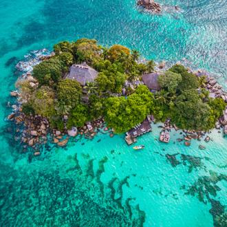 Praslin tropisch eiland, Seychellen