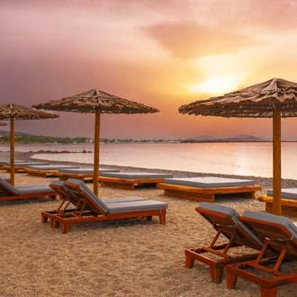Strand van Psalidi, Kos bij zonsondergang