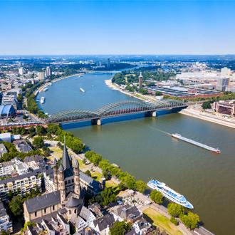 Rivier de Rijn in Keulen, Noordrijn-Westfalen