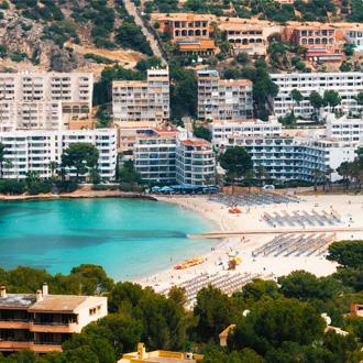 Santa Ponsa strand in Mallorca, Spanje