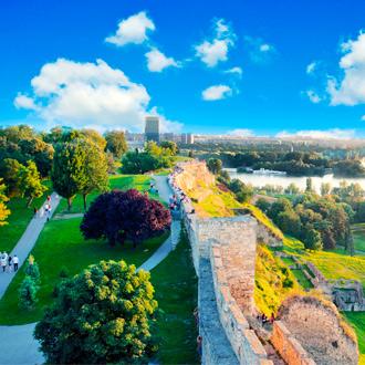 Uitzicht op nieuw Belgrado in Servie