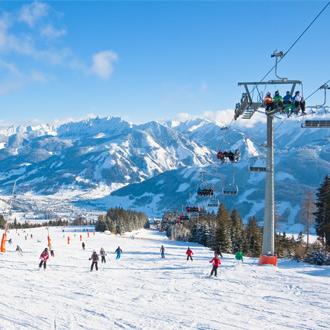 Skiën op de piste bij Zell am See