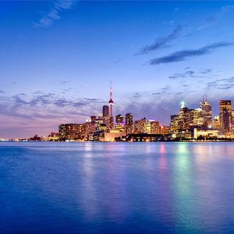 Skyline van Toronto met hoge gebouwen Canada