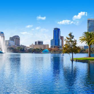 De skyline van Orlando in de Verenigde Staten