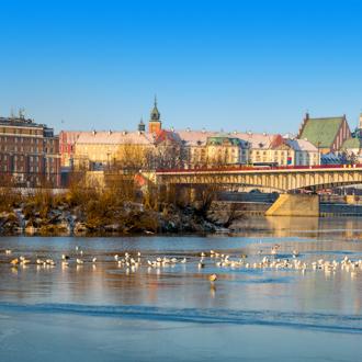 Slasko Dabrowski brug in Warschau, Polen