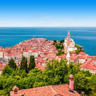 De oude stad van Piran in Slovenie