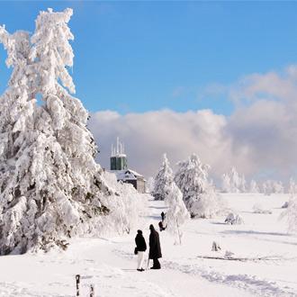 Sneeuw in de Kahler Asten in Winterberg