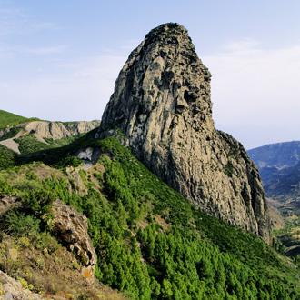 Los Roques, een grote steen in La Gomera