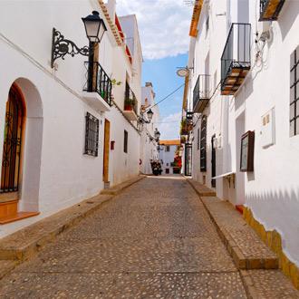 De oude stad van Altea aan de Spaanse Costa Blanca
