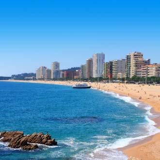 Het strand in Costa Brava