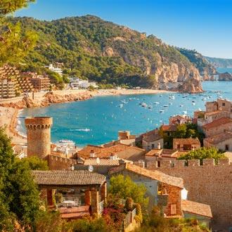 Fortress Villa Vella en Badia de Tossa in Tossa de Mar, Spanje