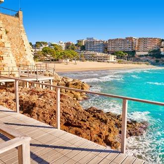 Platja Capellans beach in Salou, Spanje