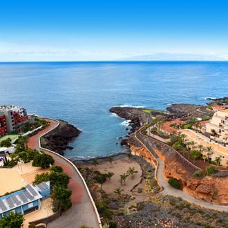 Kustlijn van Playa Paraiso op Tenerife