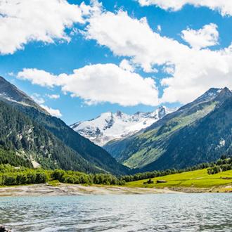 Speicher Durlassboden lake in Gerlos, Oostenrijk
