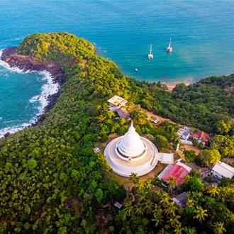 Een tempel in Sri Lanka