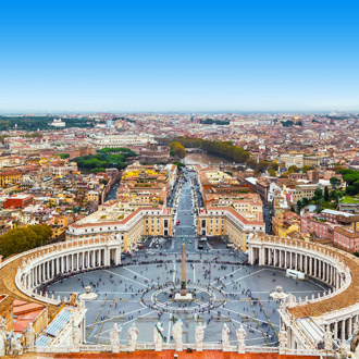 St Peters Square in Rome
