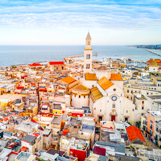 Het oude stadsdeel Bari in Puglia, Italie