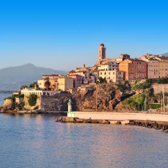 De stad Bastia in Corsica
