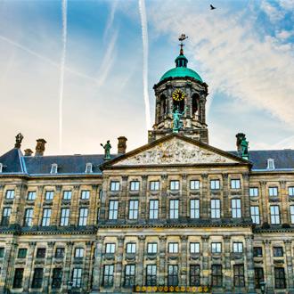 Het stadhuis in Amsterdam, Nederland