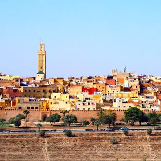 Stadsrand van Fez met huizen