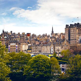 Stadszicht van Edinburgh