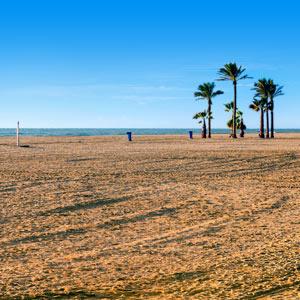 Strand van Roquetas de Mar, Spanje