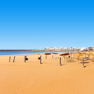 Goudgeel zandstrand Agadir