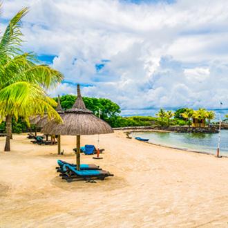 Strand van Grand River Zuid Oost Mauritius, Afrika