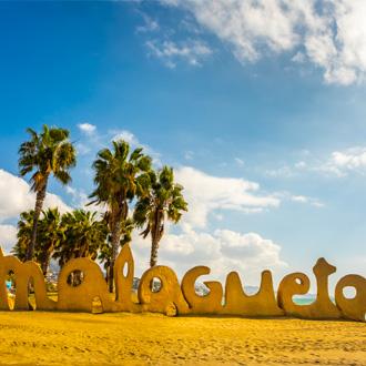 Strand van Malaga in Spanje