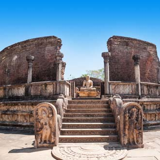Buddha tempelcomplex in Polonnarua Sri Lanka