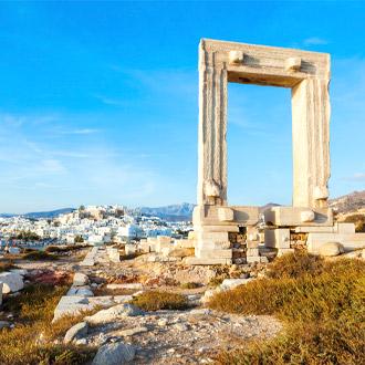 Het bezienswaardige Apollo tempel op Naxos in Griekenland