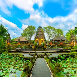 Een tempel in Ubud op Bali in Indonesie