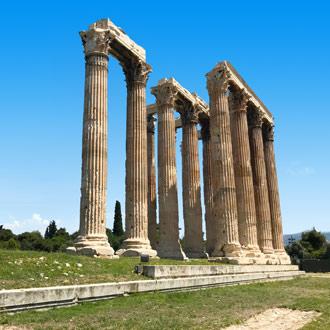 Tempel Zeus in Athene Griekenland