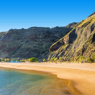 Las Teresitas strand in Tenerife, op de Canarische Eilanden.