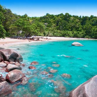 Small sandy beach in Khao Lak Thailand