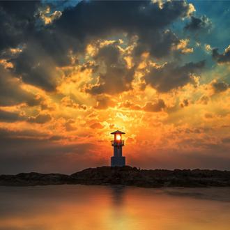 Sunset bij Khao Lak in Thailand