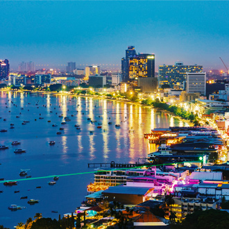 Luchtfoto Pattaya by night