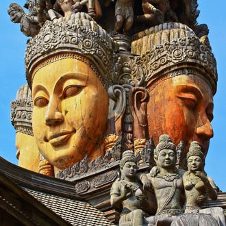 Heiligdom van waarheid in Zuid-Thailand