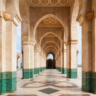 The hassan II Mosque in Casablanca Marokko, de grootste in marokko