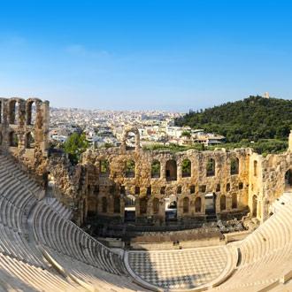 Theater Odeion van Herodes Atticus in Athene Griekenland